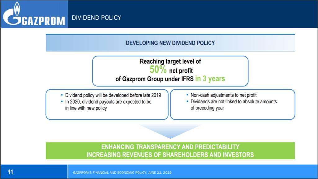gazprom dividenda, portfolio
