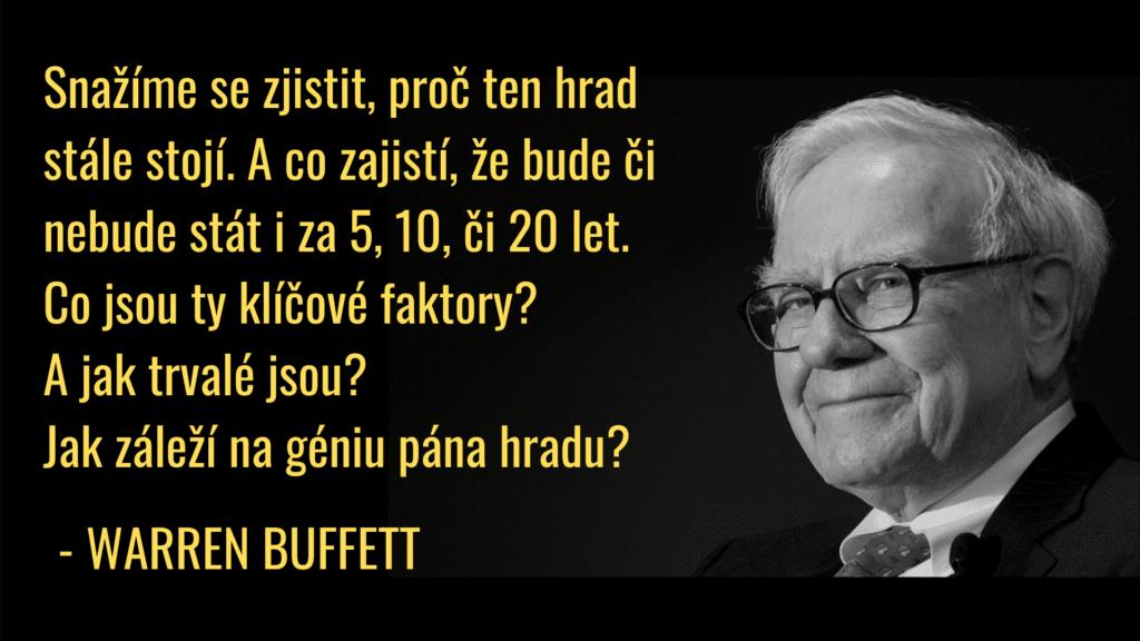 buffett konkurenční výhoda