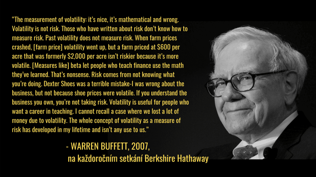 riziko a volatilita buffett