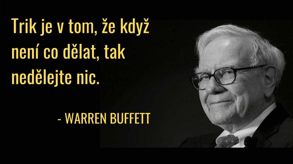 buffett jak investovat milion