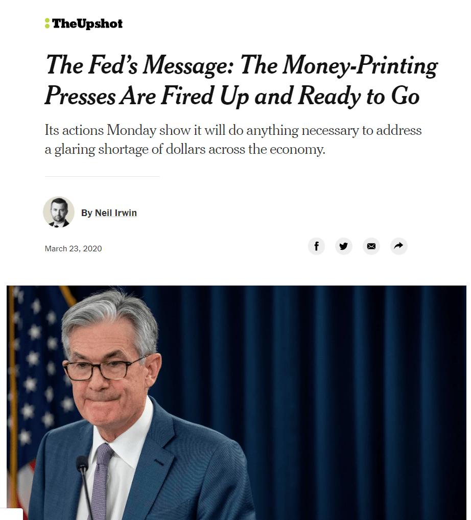 fed, tisk peněz