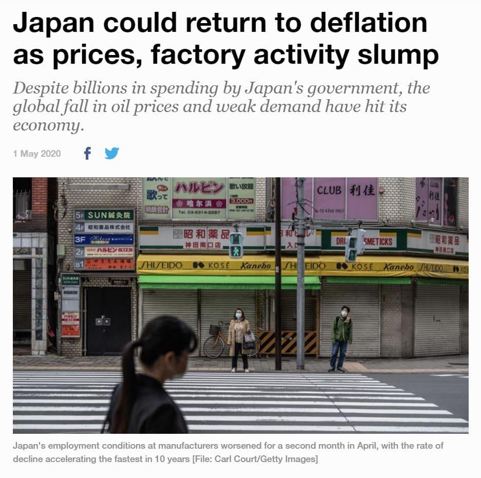 japonsko deflace