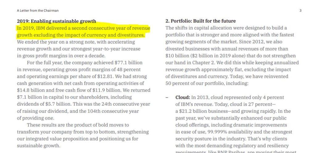 IBM annual report